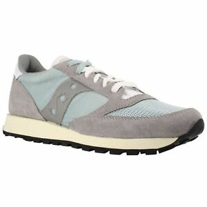 Saucony Jazz Original Vintage S703685 Grey White Mens Suede Running Trainers