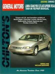 total car care repair manuals gm lumina grand prix cutlass rh ebay com 1999 Chevy Lumina 1997 Chevy Lumina
