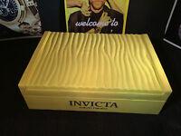 Invicta Yellow Display Case 12-slot Watch Collectors Box