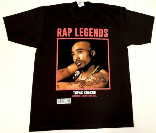TUPAC SHAKUR T-shirt 2Pac Urban Streetwear Hip Hop Rap Legend Tee Mens New
