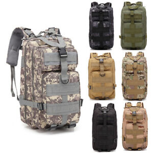 30L Outdoor Military Tactical Assault Backpack Waterproof Hiking Shoulders Pack