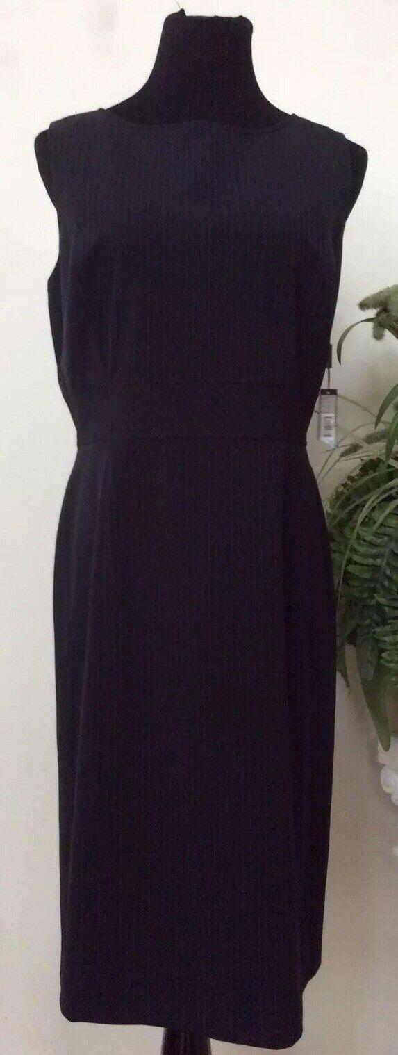 NWT TAHARI damen'S NAVY STRIPED SHEATH KNEE-LENGTH DRESS Größe 16 MSRP