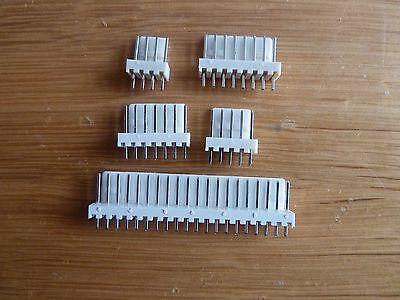 """5 De 4 Way 90 ° Pin Pcb cabeceras de 0,1 /"""" 2.54 milímetros Conectores Kk"""