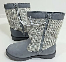 Girls Boots Winter Fall Cherokee Grey Jayla Size 11 Knit Toddler Shoe New