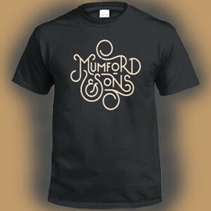 Mumford-and-Sons-British-Rock-Band-Band-Logo-Men-039-s-Black-T-Shirt-Size-S-3XL