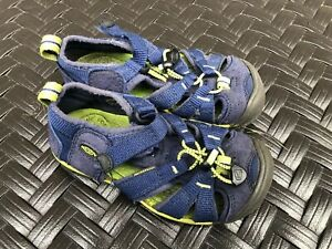 Keen-Waterproof-Washable-Blue-Lime-Green-Sport-Sandals-Boys-EU-28-Size-10-GUC