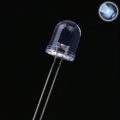 8mm LED Emitting Diode Ultra Bright Lamp White Colors Light DIY 15000mcd Bulb