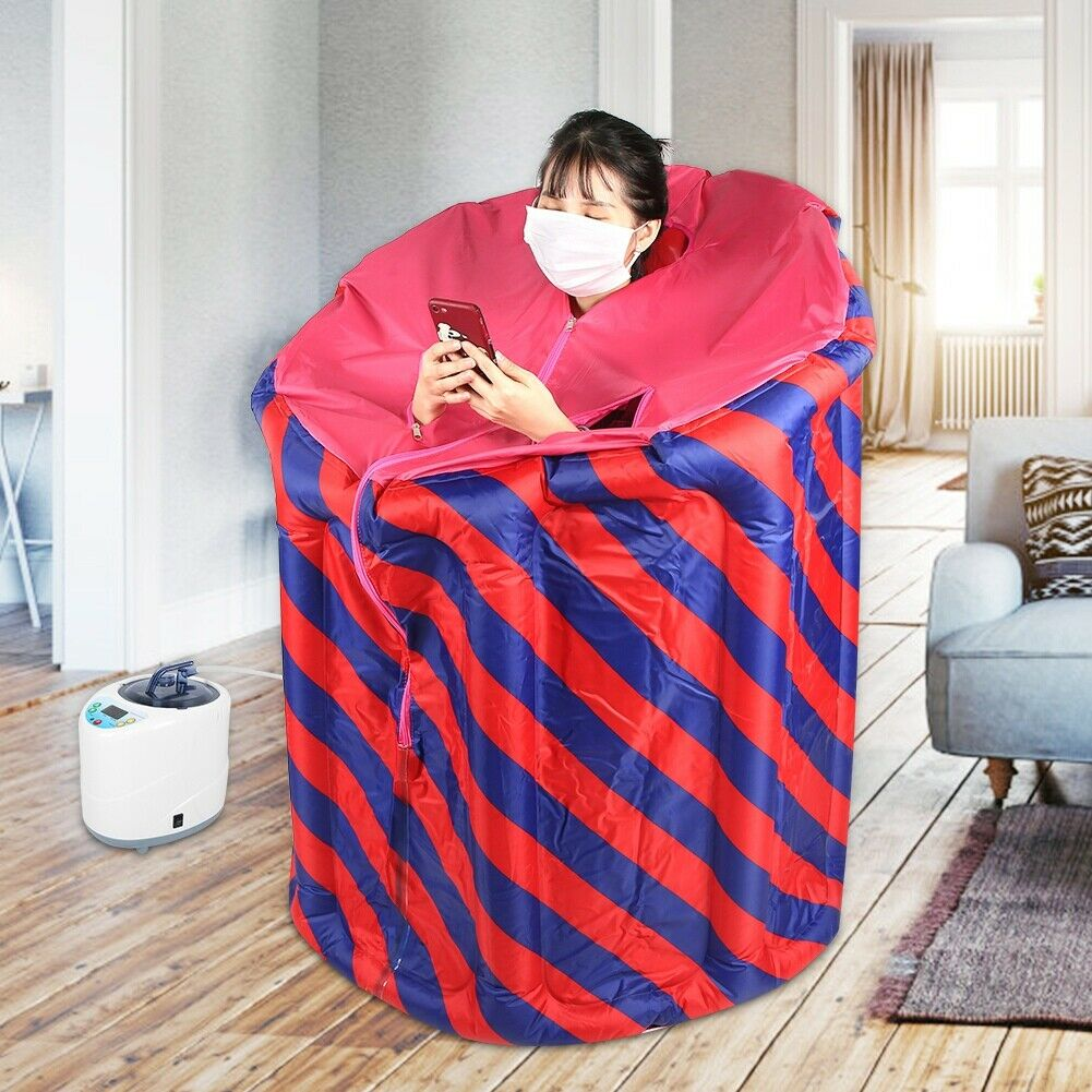 2L Sauna Steamer Machine with Folding Inflatable Home Sauna Box for Home SPA