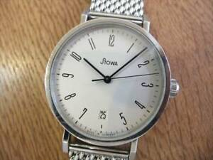 STOWA ANTEA 365 Automatic White dial Date Stainless steel Men's