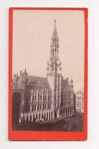 Vintage-CDV-Hotel-de-Ville-or-Town-Hall-Grand-Place-in-Brussels-Belgium
