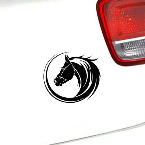 Arc Horse Head Window Home Car Sticker Laptop Truck Black Vinyl Decal Sticker