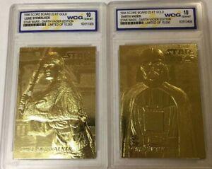 "1//10,000! DARTH VADER EDITION WCG GEM-MT 10 /""23 KT GOLD CARD STAR WARS /""YODA/"""