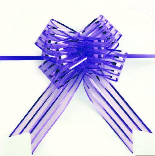 10 pcs Organza Yarn Pull Bows Ribbon Wedding Party Flowers Decor Gift Wrap