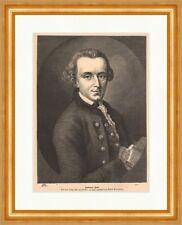 Immanuel Kant Holzstich von Adolf Neumann deutscher Philosoph Königsberg P 0330