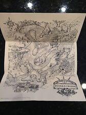 1980s DISNEYLAND Rare JUNGLE CRUISE RIDE MAP DISNEY WORLD CAST MEMBER SIgn Prop