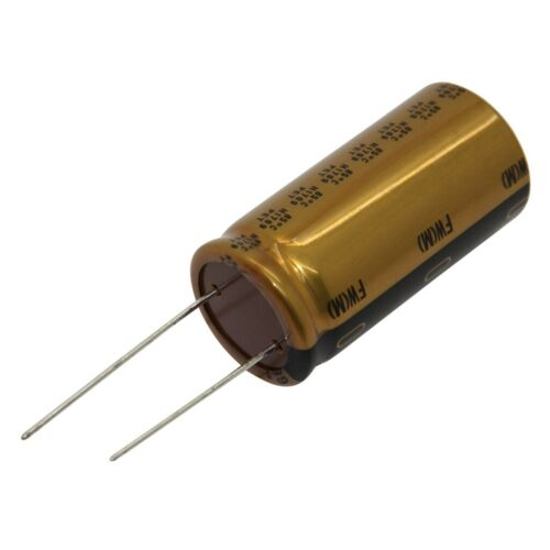 2.5mm N electrolytic THT 10uF 100VDC Ø6.3x11mm Pitch 16X UFW2A100MED Capacitor
