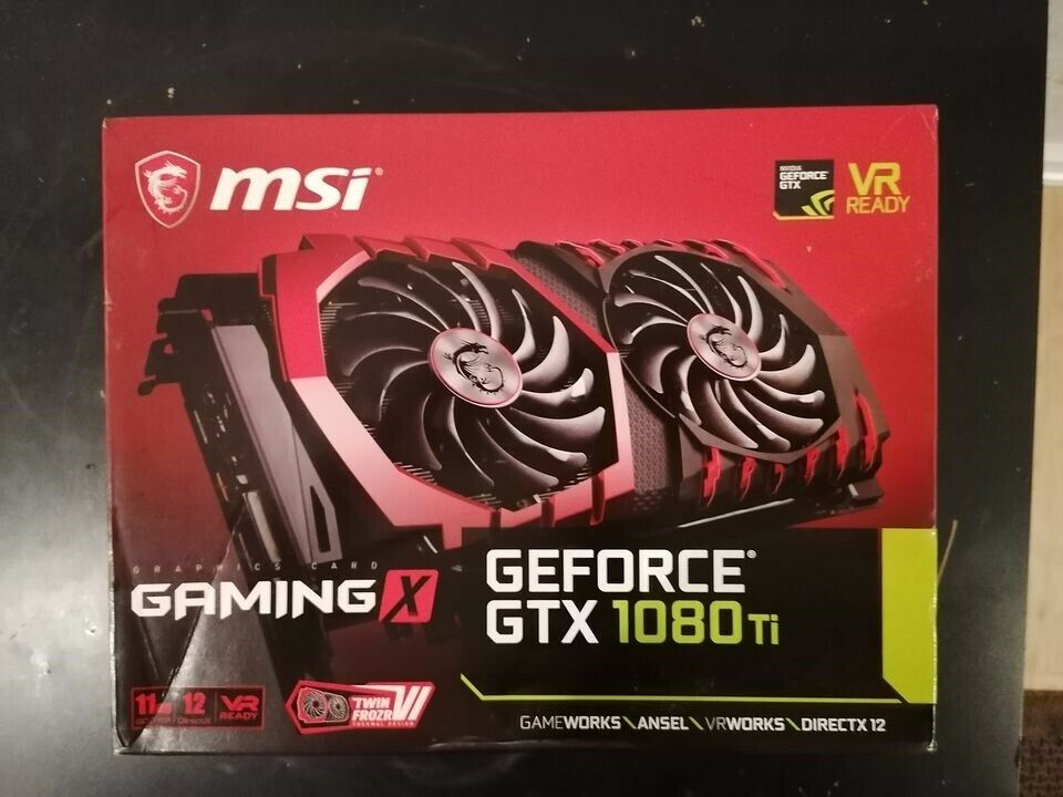 solgt GeForce GTX 1080 Ti GAMING X , 11 GB RAM, Perfekt
