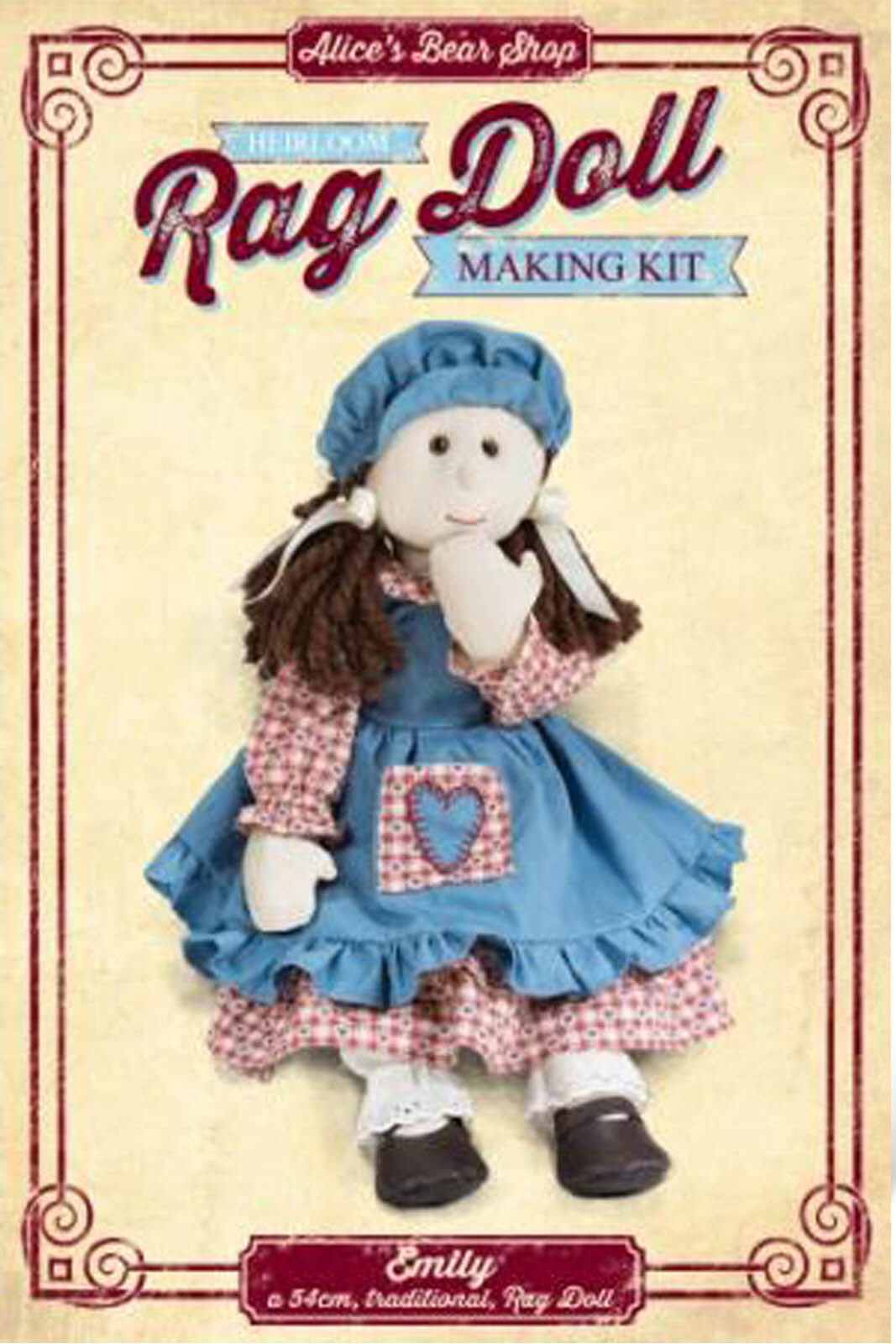 Sewing a Rag Doll Kit - - Kit Emily with Traditional Dress Outfit - 54cm when made c32da6