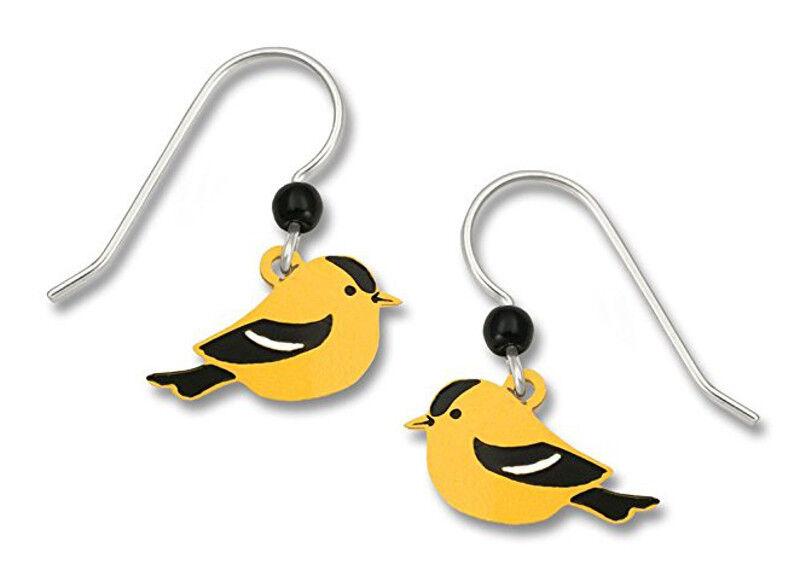 Image 31 - Sienna-Sky-American-GOLDFINCH-EARRINGS-STERLING-Silver-Yellow-BIRD-Dangle-960