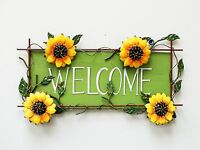 Attraction Design Metal Sunflower Welcome Sign Wall Décor Great Gift