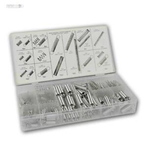 200 tlg Zugfedern-Druckfedern Set Federn-Sortiment Zugfeder Druckfeder