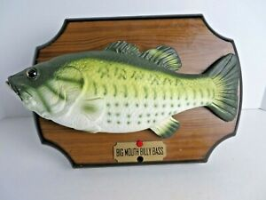 Gemmy-Big-Mouth-Billy-Bass-Mounted-Animated-Singing-Fish-Decor-1999-Works-1966