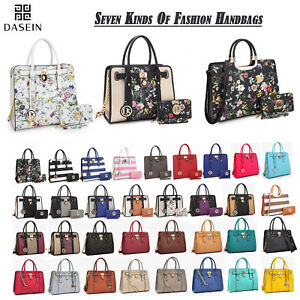 Image Is Loading New Dasein Womens Handbags Faux Leather Satchels Tote
