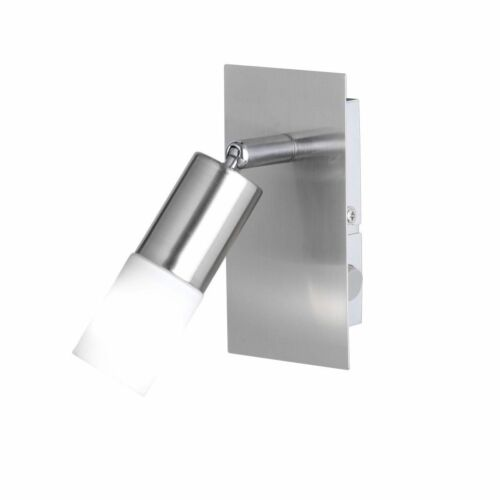 Wofi Led Wandleuchte Alvis 1-flg Nickel Schalter Glas Weiß 3 W 260 Lumen