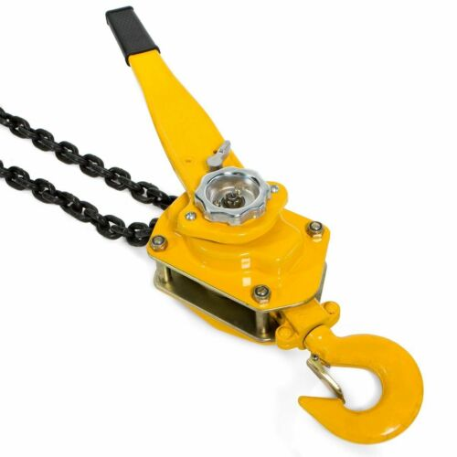 3Ton Lever Block Chain Hoist Ratchet Type Come Along Puller 5FT Lifter shop