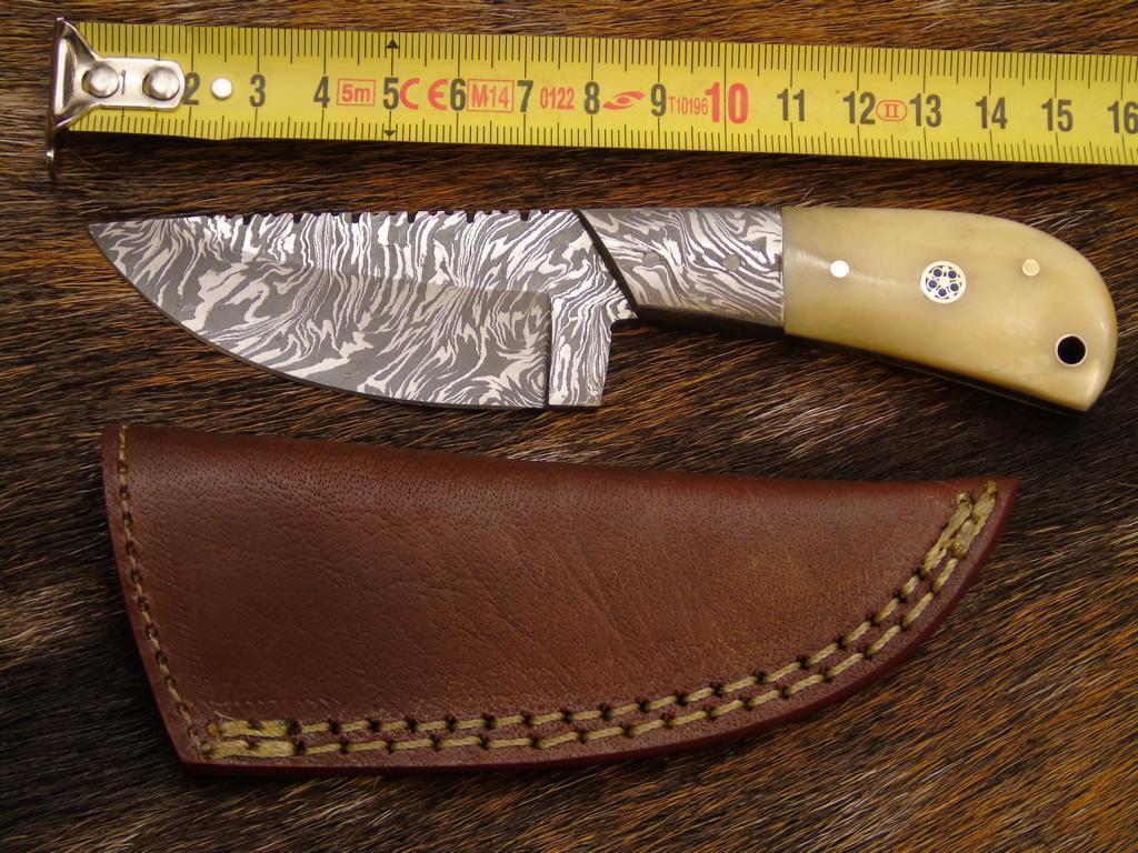 Damast  Messer, sehr schönes Hand geschmiedetes Damast Jagd Jagd Jagd Messer (4183 3) 4239f6
