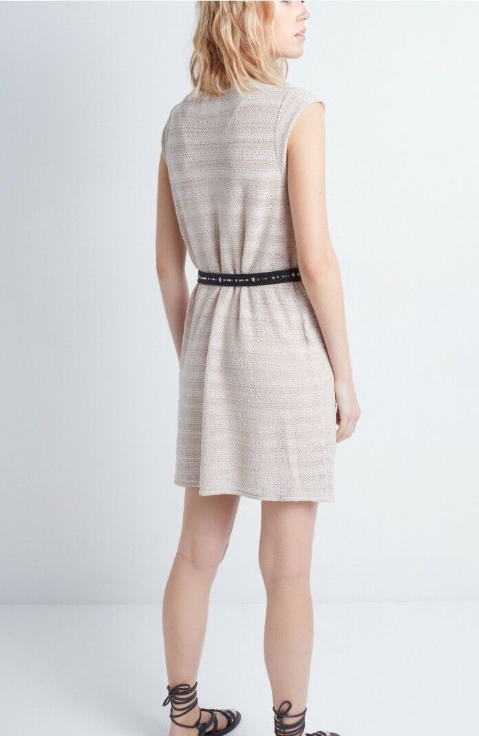 NWT Women's Zadig & Voltaire Poudre Marty Marty Marty Ptle Crl dress Size S - MSRP  340 9cb8f1