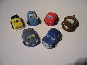 LIGHTNING MCQUEEN AND CARS set of 6 edible cake cupcake 3 ...