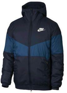 Détails sur Nike Windbreaker Sportswear Veste UK L synthétique remplir BNWT Bleu 928861 451 Gree afficher le titre d'origine