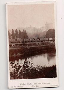 Vintage-CDV-Windsor-Castle-North-Terrace-G-W-Wilson-Photo-Aberdeen