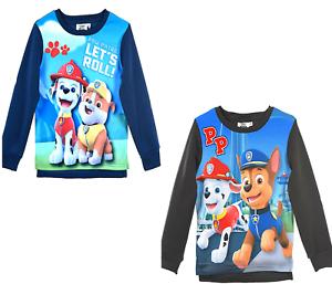 Kids-Boys-Girls-PAW-PATROL-Disney-Hero-Character-Sweat-Jumper-Tops-3-4-5-6-YEARS