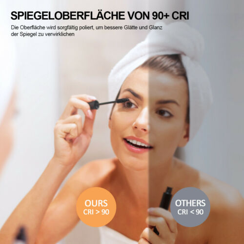 Badspiegel mit Beleuchtung Mit Glasregal Wandspiegel Touch Beschlagfrei Spiegel