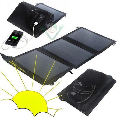 Carica batteria SOLARE 10W alimentatore 3 pannelli per iPhone 4 4S 5 5S 5C PNL