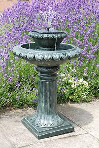 Bain D Oiseaux Victorien Fontaine Jardin Energie Solaire Eclairage
