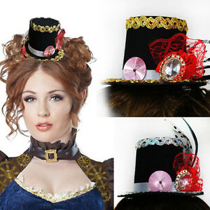 Image is loading Black-Victorian-Steampunk-Vintage-Mini-Top-Hat-Clock- c61c28955f5e