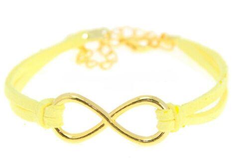 Infinity Armband Creme Blogger ### Damen Armkette Eternity Unendlichkeit