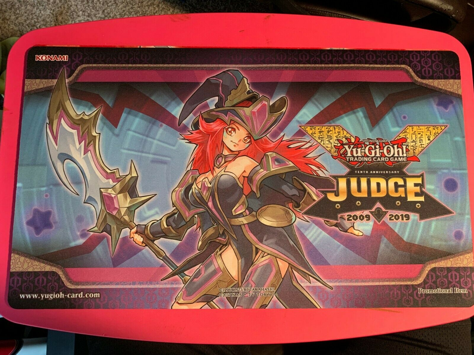 Yu-Gi-Oh  Summon Sorceress Judge Playmat  VERY HARD HARD HARD TO FIND BRAND NEW ac9f29