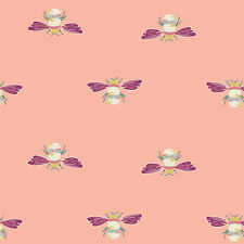 Art Gallery ~ Garden Dreamer Bumblebee Pink Fabric / quilting bee dressmaking
