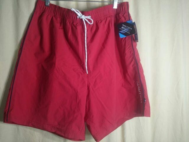 817b190e38 Nautica Mens Quick Dry Swim Shorts XL Nautica Red for sale online   eBay