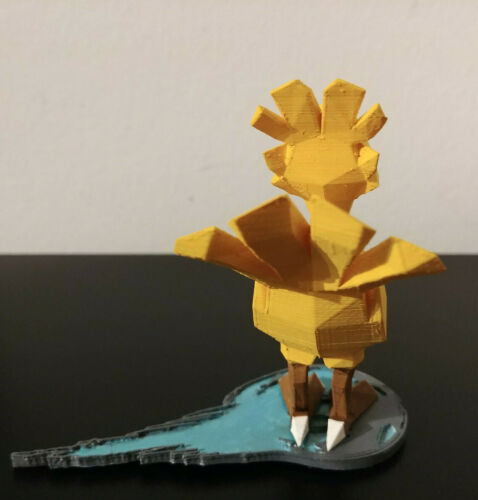 Final Fantasy 7 3D Printed Miniatures Figurines with stand Chocobo
