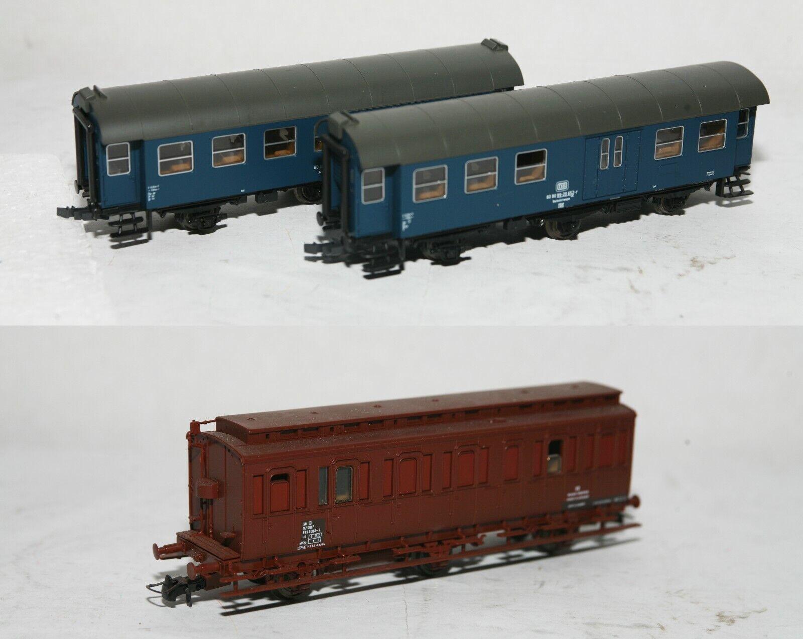 3 Vagoni Roco H0 DB 60 80 99 23092-29652 + 46336 SNCF U 949 0 981-9