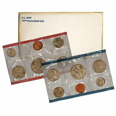 1979 P /& D US Mint Set United States Original Government Packaging Box Cello