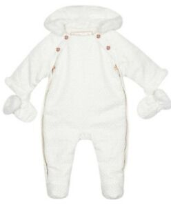 Ted Baker Baby girls039 white geometric textured snowsuit with mittens BNWT - Nunhead, London, United Kingdom - Ted Baker Baby girls039 white geometric textured snowsuit with mittens BNWT - Nunhead, London, United Kingdom