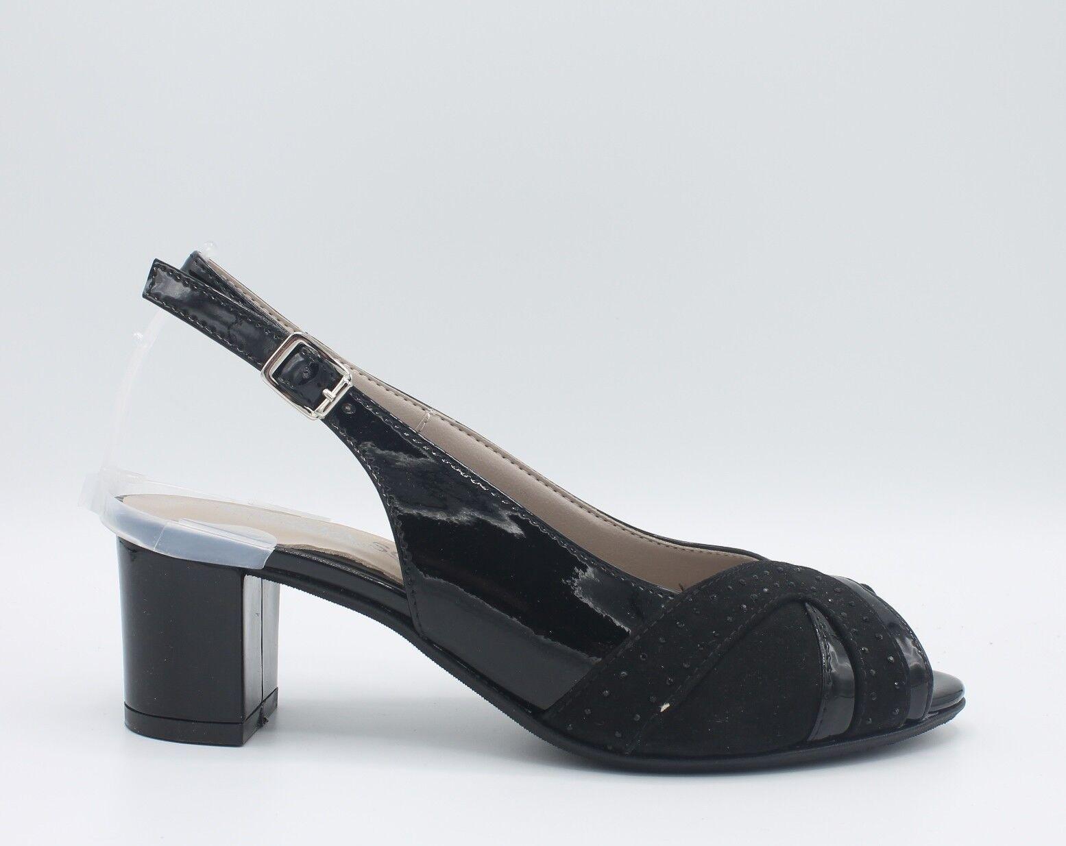 CINZIA SOFT Sandali in donna eleganti linea comoda in Sandali pelle vernice nero IAB292318 5b9f4c