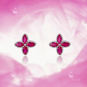 925 silver earrings made with Swarovski crystal flower stud kids baby jewellery