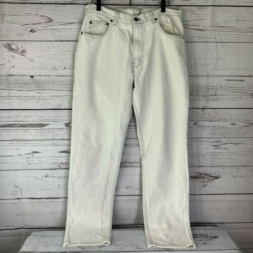 Vintage Levis 506xx Mens 36 X 34 White Jeans Made